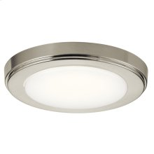 Zeo Collection Zeo 4000K LED 7 Inch round Flushmount NI