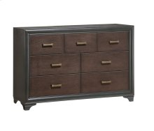 Emerald Home Prelude Dresser 7 Drawer Honey Black/brown B588-01