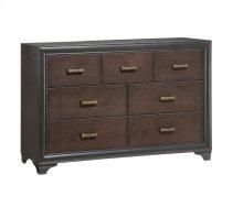 Emerald Home Prelude Dresser 7 Drawer Honey Black/brown B588-01