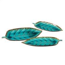 Ceramic Decorative Leaf Plate Set