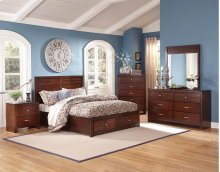 5 Piece Bedroom - 3PC Bed, Dresser, Mirror