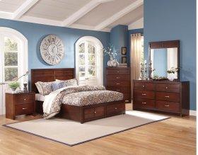 6 Piece Bedroom - 3 PC Bed, Dresser, Mirror, Chest