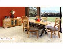 78 Rectangular Dining Table w/Iron Base