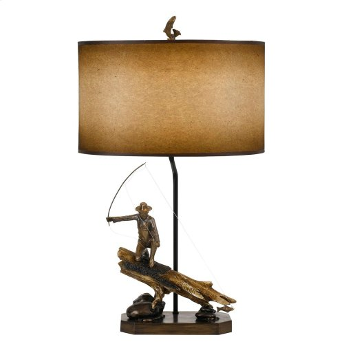 150W Fisherman Resin Table Lamp