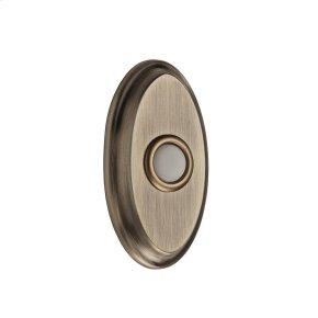 Matte Brass & Black BR7016 Oval Bell Button