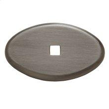 Antique Nickel Knob Back Plate