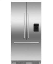 "Integrated French Door Refrigerator Freezer, 36"", 16.8 cu ft, Panel Ready, Ice & Water"
