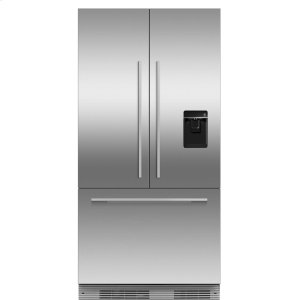 "Fisher & PaykelIntegrated French Door Refrigerator Freezer, 36"", 16.8 cu ft, Panel Ready, Ice & Water"