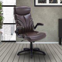 DC#205 Mahogany Fabric Lift Arm Desk Chair Product Image