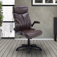 DC#205 Mahogany Fabric Lift Arm Desk Chair