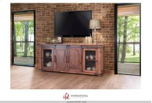 "80"" TV Stand w/4 Doors & Shelves"