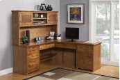 "A-S641 Shaker Alder 72"" Desk & Return"