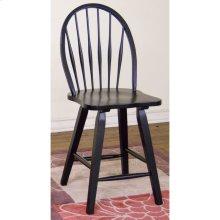 Black Bowback Stool/wooden Seat