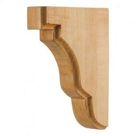 """1-3/4"""" x 5"""" x 7"""" Square Edge Bar Bracket, Species: Rubberwood"""