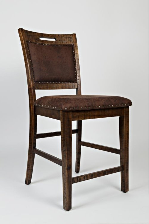 RED HOT BUY! BE HAPPY! Cannon Valley Upholstered Back Counter Stool