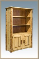Glacier Country Log Bookcase with Storage Product Image