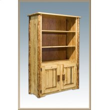 Glacier Country Log Bookcase with Storage