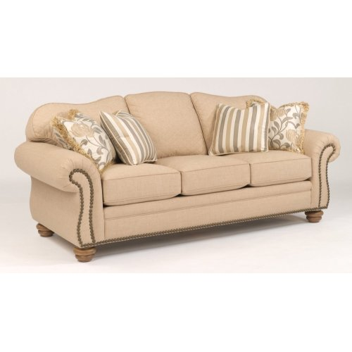 Bexley One-Tone Fabric Sofa with Nailhead Trim