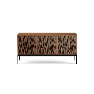 Bdi FurnitureTriple Wide Cabinet W Console Base in Wheat Doors Natural Walnut