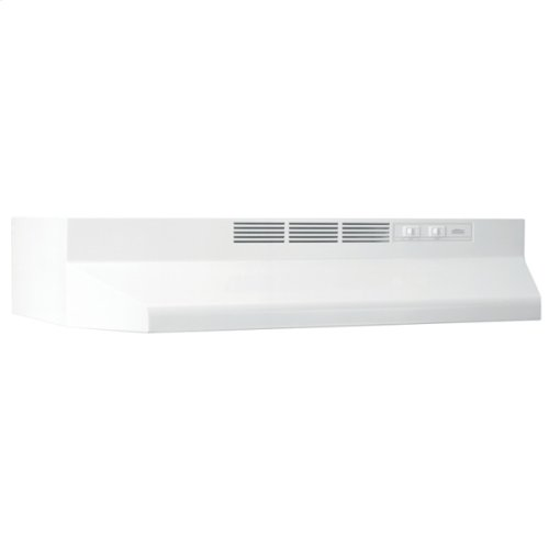 24-Inch Ductless Under Cabinet Range Hood with Light in White with EZ1 installation system