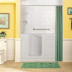 Luxury Series 32x60-inch Walk-In Tub with Combo Air Spa and Whirlpool Systems  American Standard - Linen