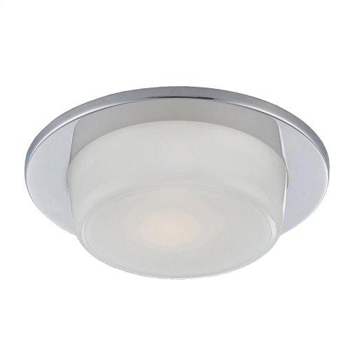 TRIM,4 INCH SHOWER DROPPED GLASS - Chrome