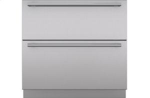 "Integrated 36"" Drawer Panels with Tubular Handles"