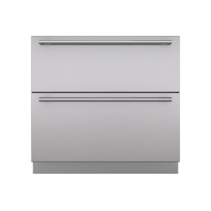"""Integrated 36"""" Drawer Panels with Tubular Handles"""