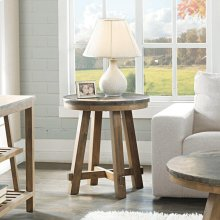 Weatherford - Round Side Table Base - Bluestone Finish