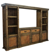 TV Copper Insert Wall Unit and TV Stand