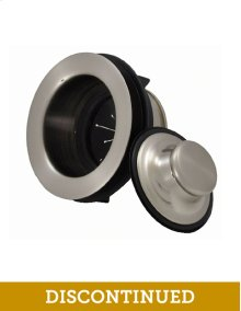 EZ Mount Metal Disposer Flange with Matching Stopper - Brushed Nickel
