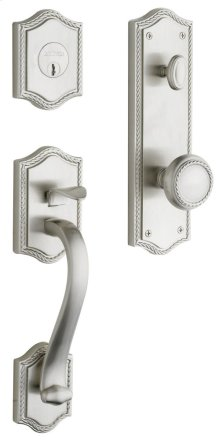 Satin Nickel with Lifetime Finish Bristol Handleset