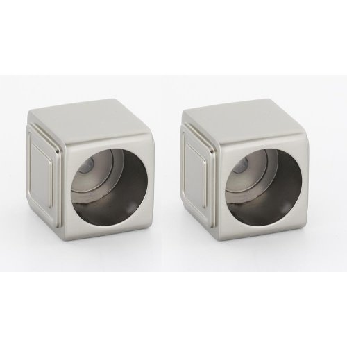 Cube Shower Rod Brackets A6546 - Satin Nickel