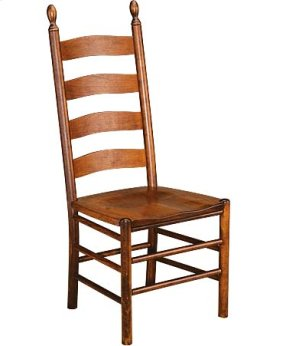 Slat Back Side Chair w/ Wood Seat