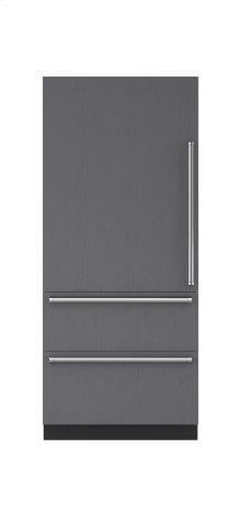 "36"" Designer Over-and-Under Refrigerator Internal Dispenser - Panel Ready"