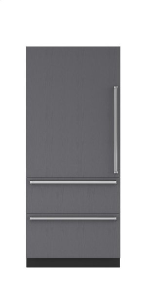 "36"" Integrated Over-and-Under Refrigerator/Freezer with Internal Dispenser and Ice Maker - Panel Ready"
