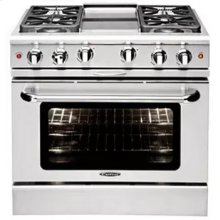 "Culinarian 36"" Gas Manual Clean Range"