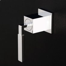 Built-in single lever two-way diverter with a lever handle and square backplate. Water flow rate 6.2 gpm at 60 psi.