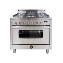 36 Inch 5-Burner Italian Gas Oven (Stainless)