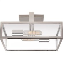 Visual Comfort S4190PN-CG Ian K. Fowler Halle 2 Light 14 inch Polished Nickel Flush Mount Ceiling Light
