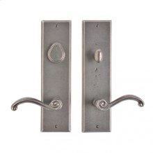 """Rectangular Entry Set - 3 1/2"""" x 13"""" White Bronze Brushed"""