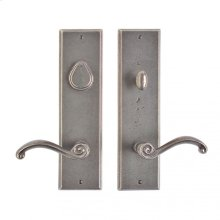 "Rectangular Entry Set - 3 1/2"" x 13"" White Bronze Medium"
