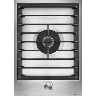 """15"""" Single-Burner Gas Cooktop with Wok Ring, Stainless Steel"""