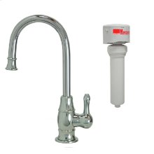 Francis Anthony Collection - Point-of-Use Drinking Faucet with Traditional Curved Body & Curved Handle & Mountain Pure® Water Filtration System - Polished Chrome