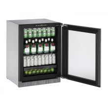 "24"" Glass Door Refrigerator Integrated Frame - Right-Hand Hinge"
