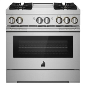 "Jenn-AirRISE 36"" Dual-Fuel Professional Range with Chrome-Infused Griddle"