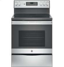"GE® 30"" Free-Standing Electric Convection Range-Self Clean"