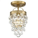 Calypso 1 Light Vibrant Gold Ceiling Mount