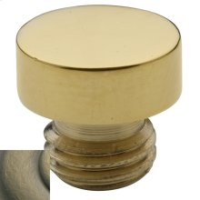 Satin Brass and Black Button Finial
