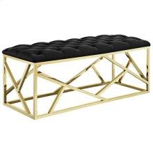 Intersperse Bench in Gold Black